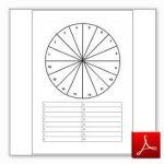gratis download lege pendelkaart, hele cirkel met lijst opties eronder