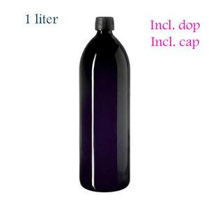 Miron violet glas waterfles 1 liter, FL-WA-1LT, inclusief dop