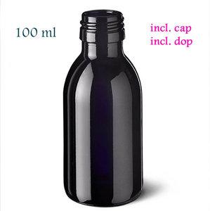 Miron FL-WA-100 -PP28, violet glas waterfles, type Aquarius, inhoud 100 ml