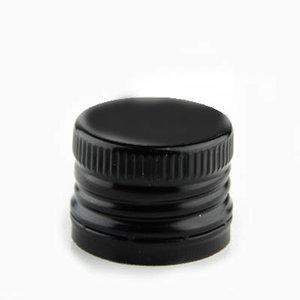 Aluminium schroefdop met schenkinzet voor oliefles 31.5 mm